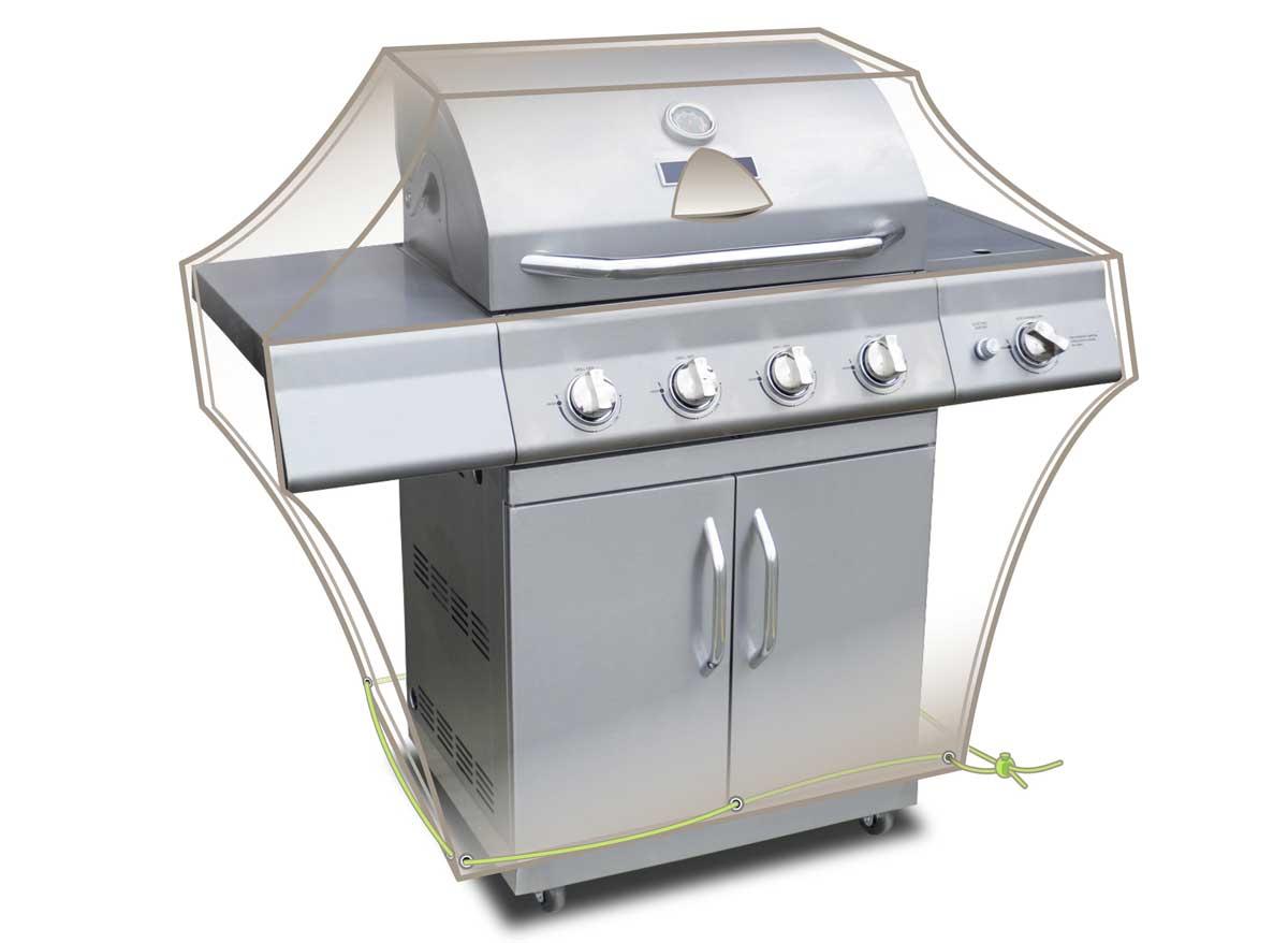 Housse barbecue Luxe 150 x 80 x 90 cm