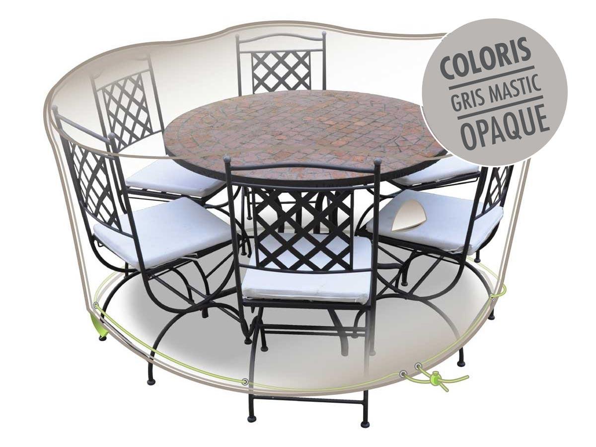 Housse de protection Luxe pour salon de jardin rond Ø 160 cm