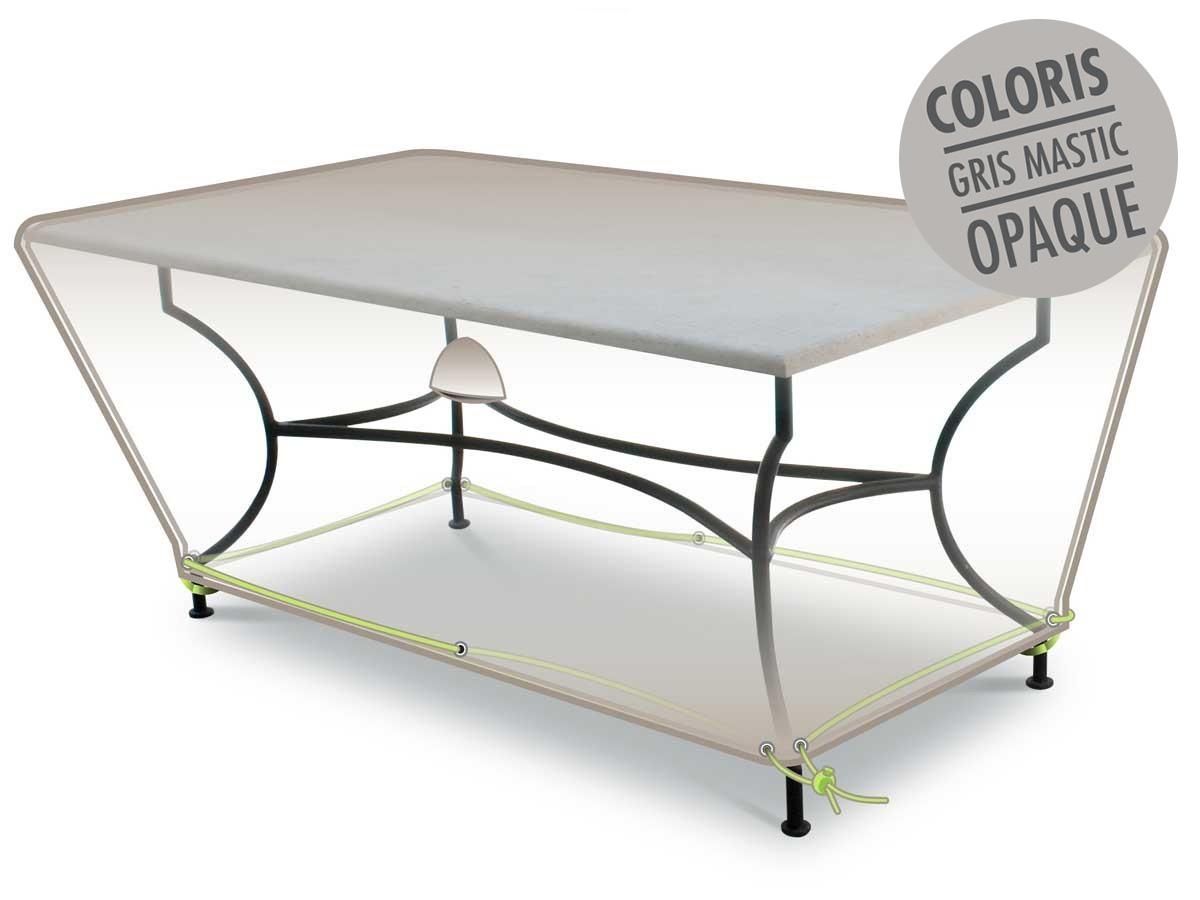 Housse de protection pour table rectangulaire 260 x 100 x 50 cm LUXE