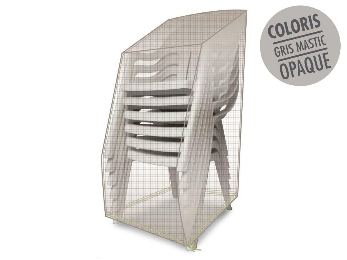 Housse de protection pour piles de chaises 66 x 66 x 110 cm