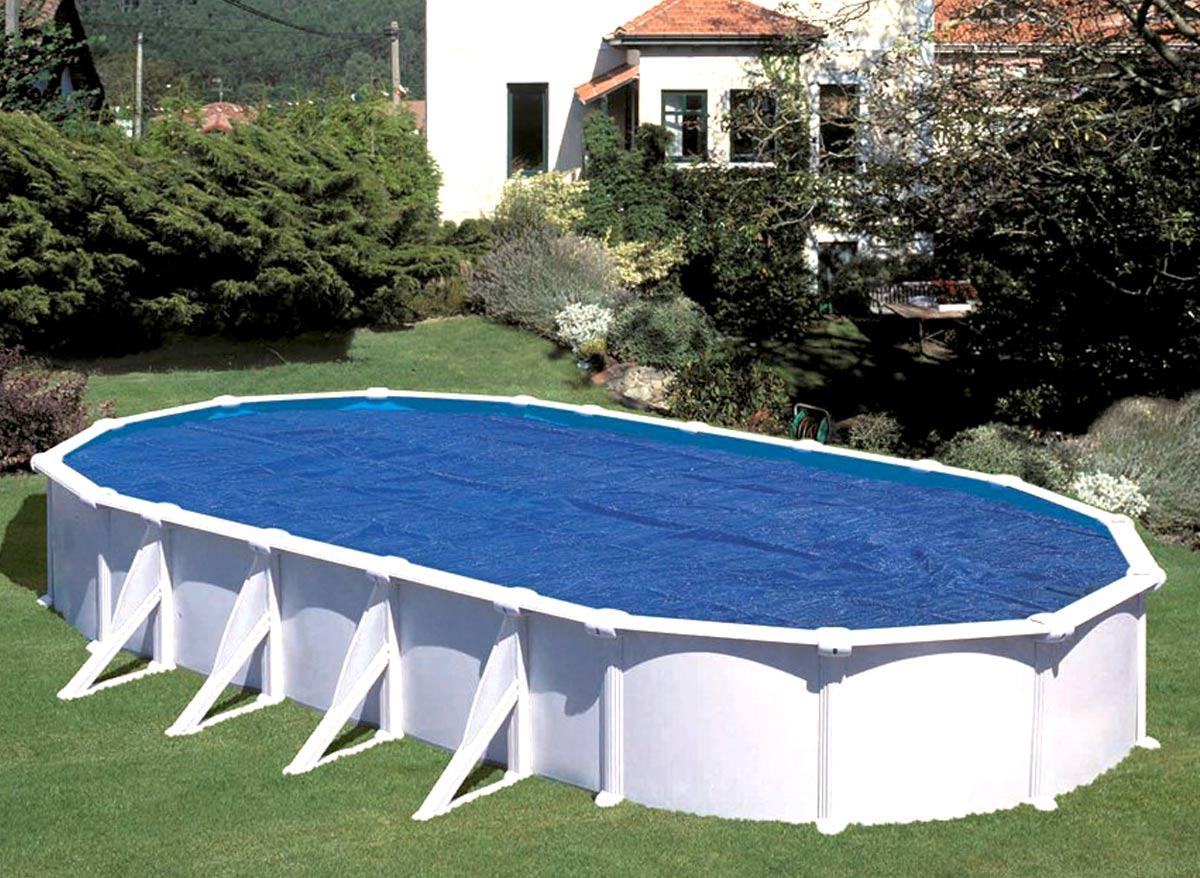 Bâche à bulles pour piscine acier ovale 10,20 x 5,75 m - Gré