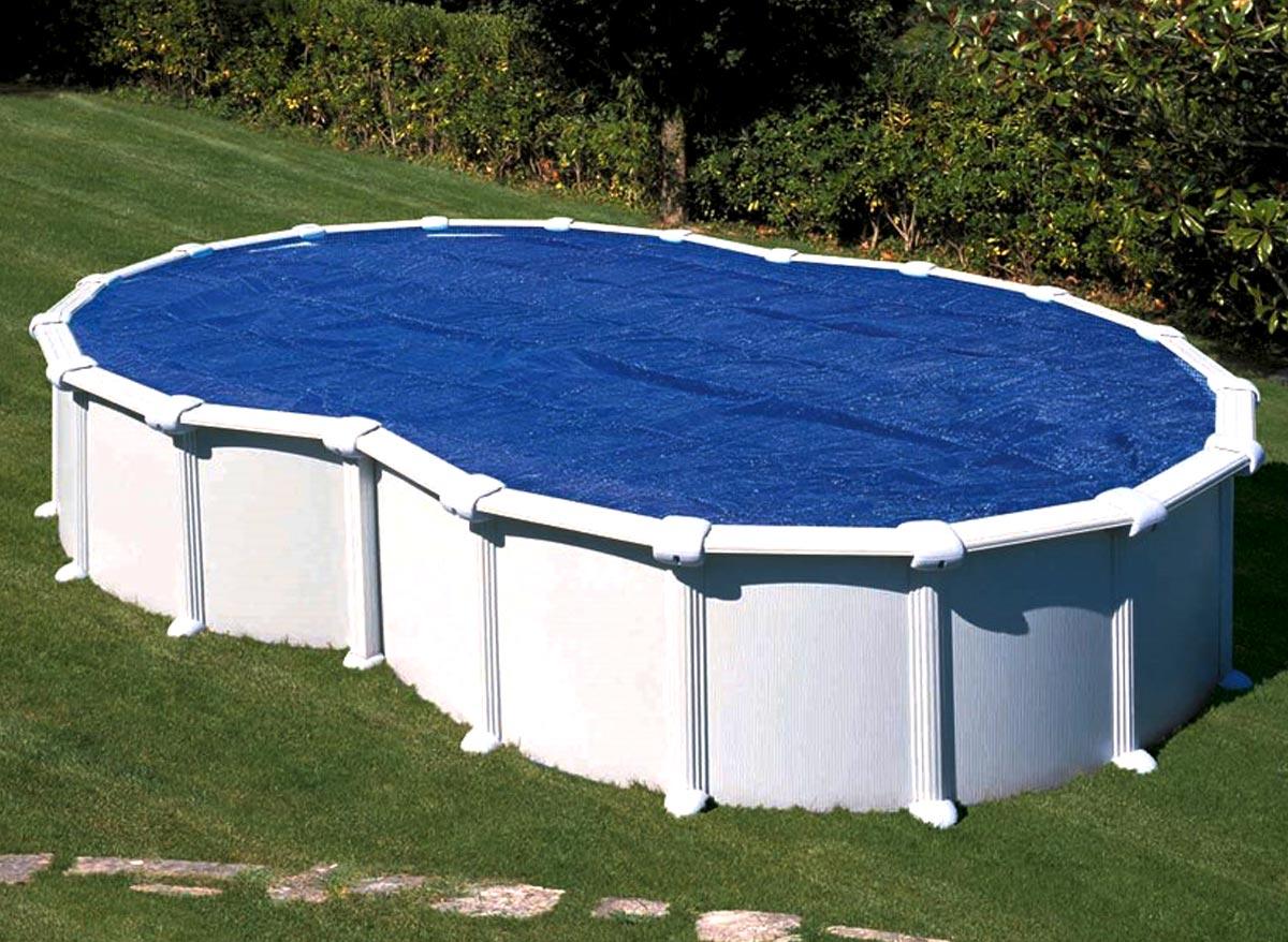 Bâche À bulles gré pour piscine en huit 7,10 x 4,75 m