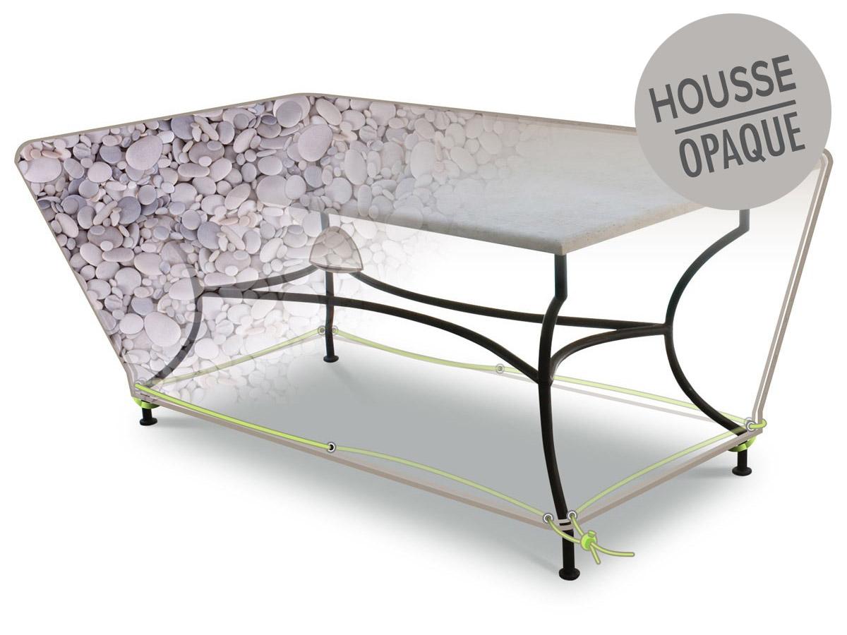 Housse de protection pour table rectangulaire 160x90x50 cm galets