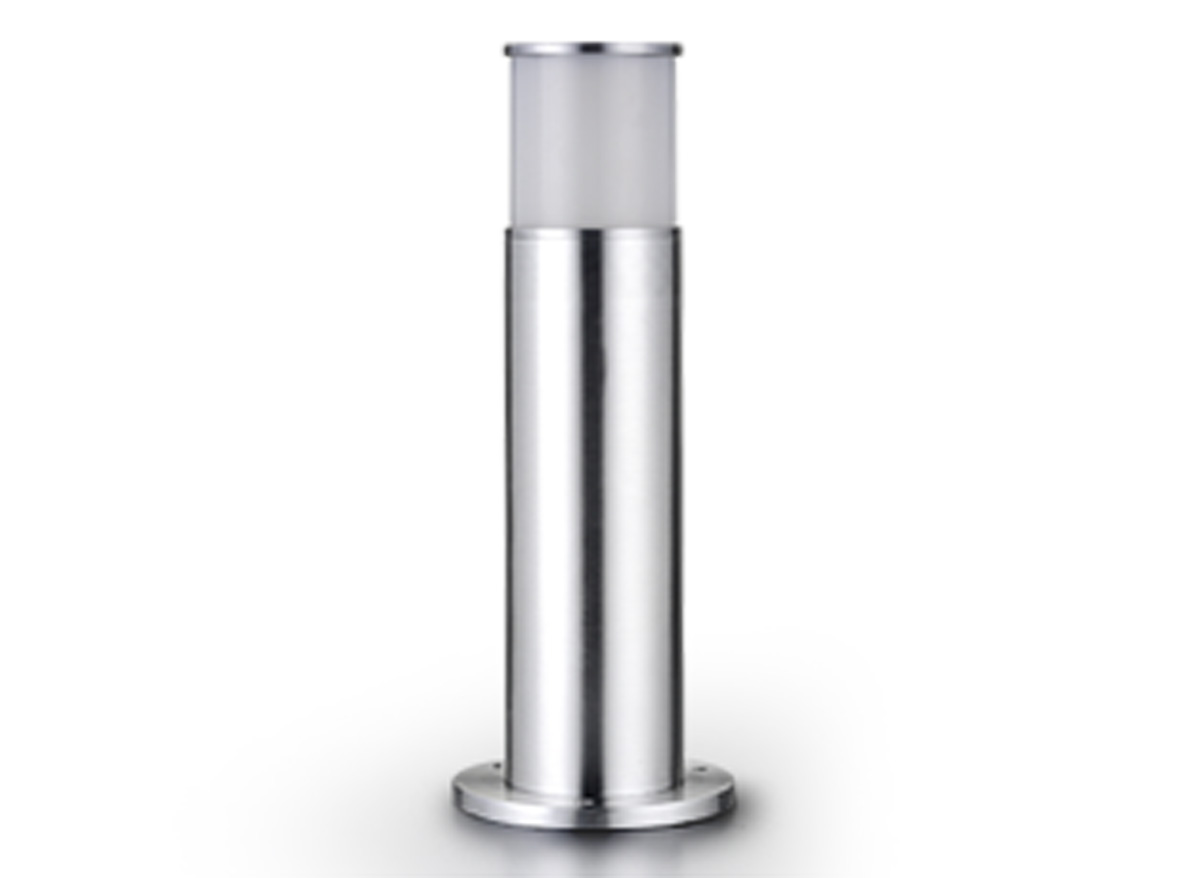 Borne lumineuse cylindrique Inox 45 cm - Réf 64206 EASY CONNECT