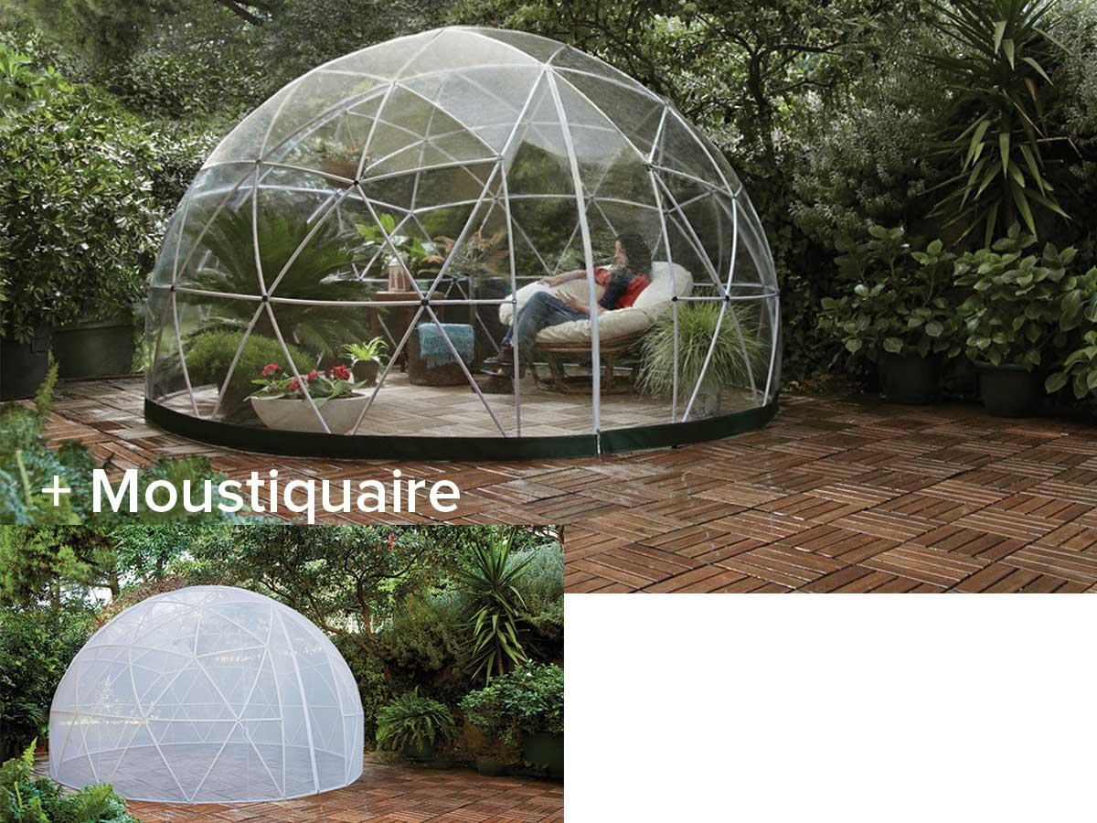 Abri de jardin garden igloo hiver + moustiquaire - 10 m²