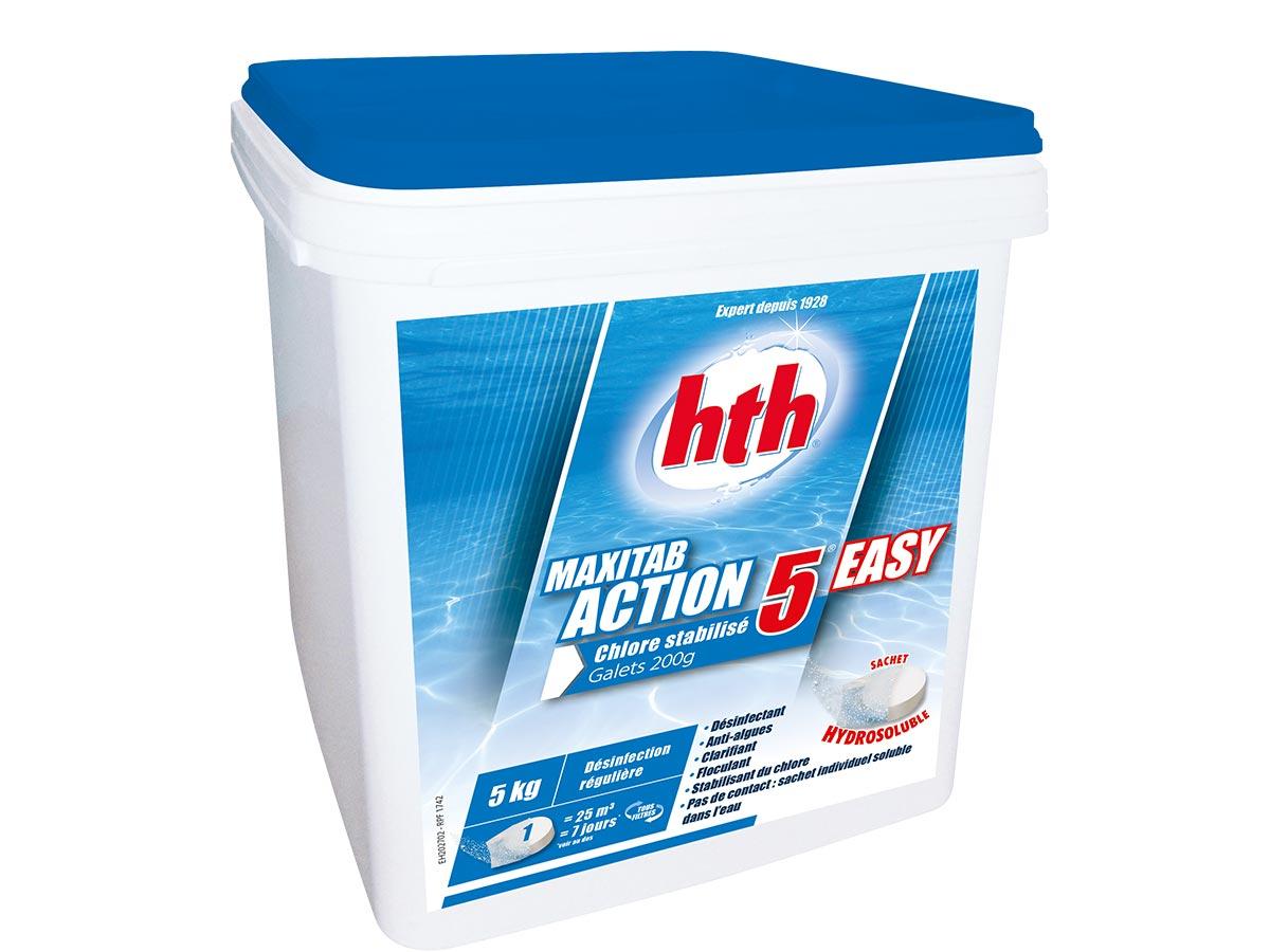 Chlore 5 actions Maxitab 5 kg en sachet hydrosoluble - HTH