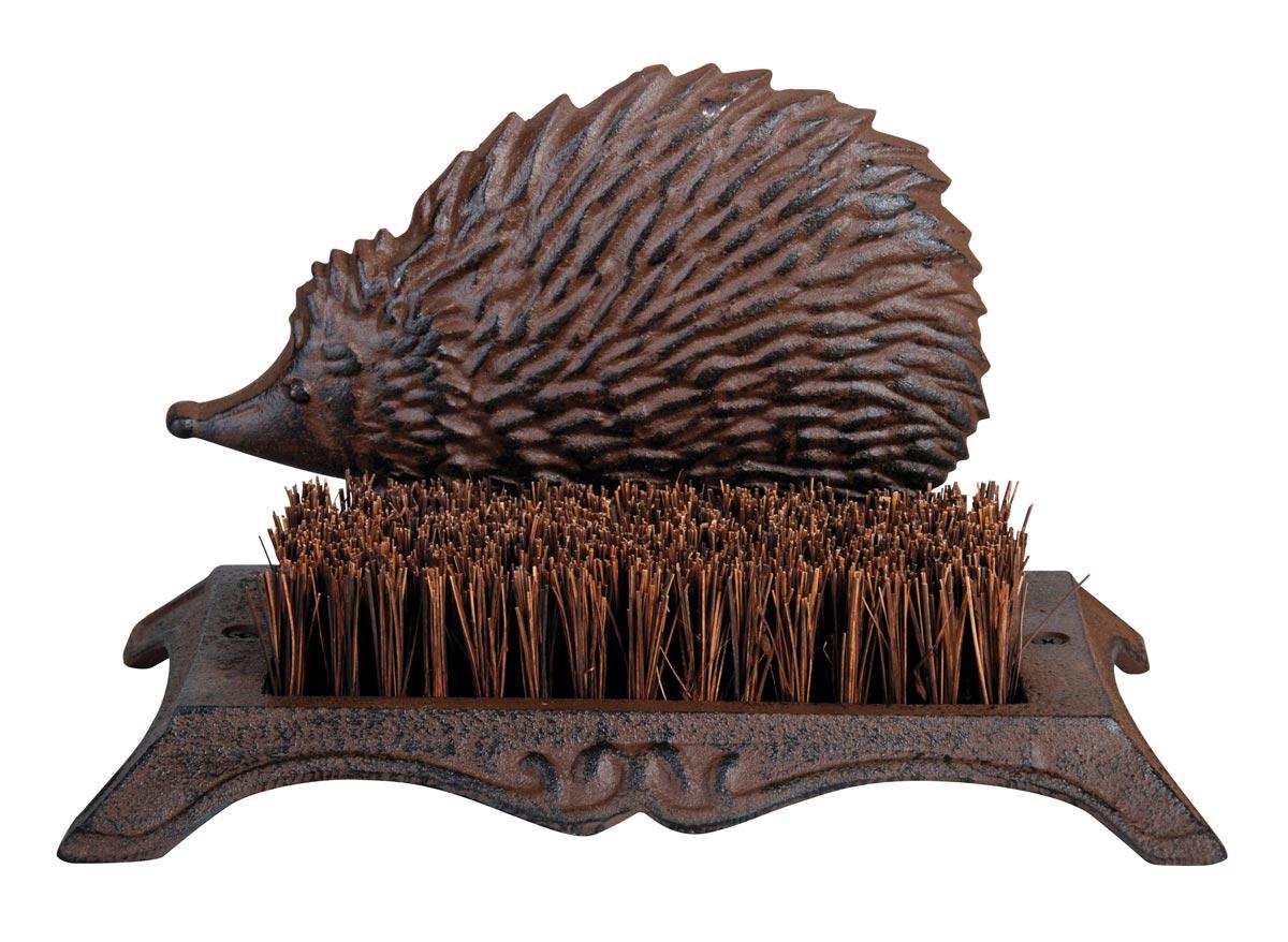 Brosse Pieds décoration hérisson fonte