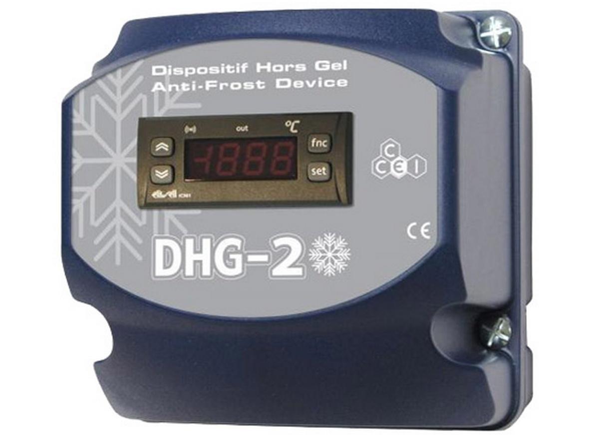 Coffret électrique DHG-2 de mise hors-gel pour piscines CCEI. Une solution très pratique pour l'hivernage actif de votre piscine. L'appa