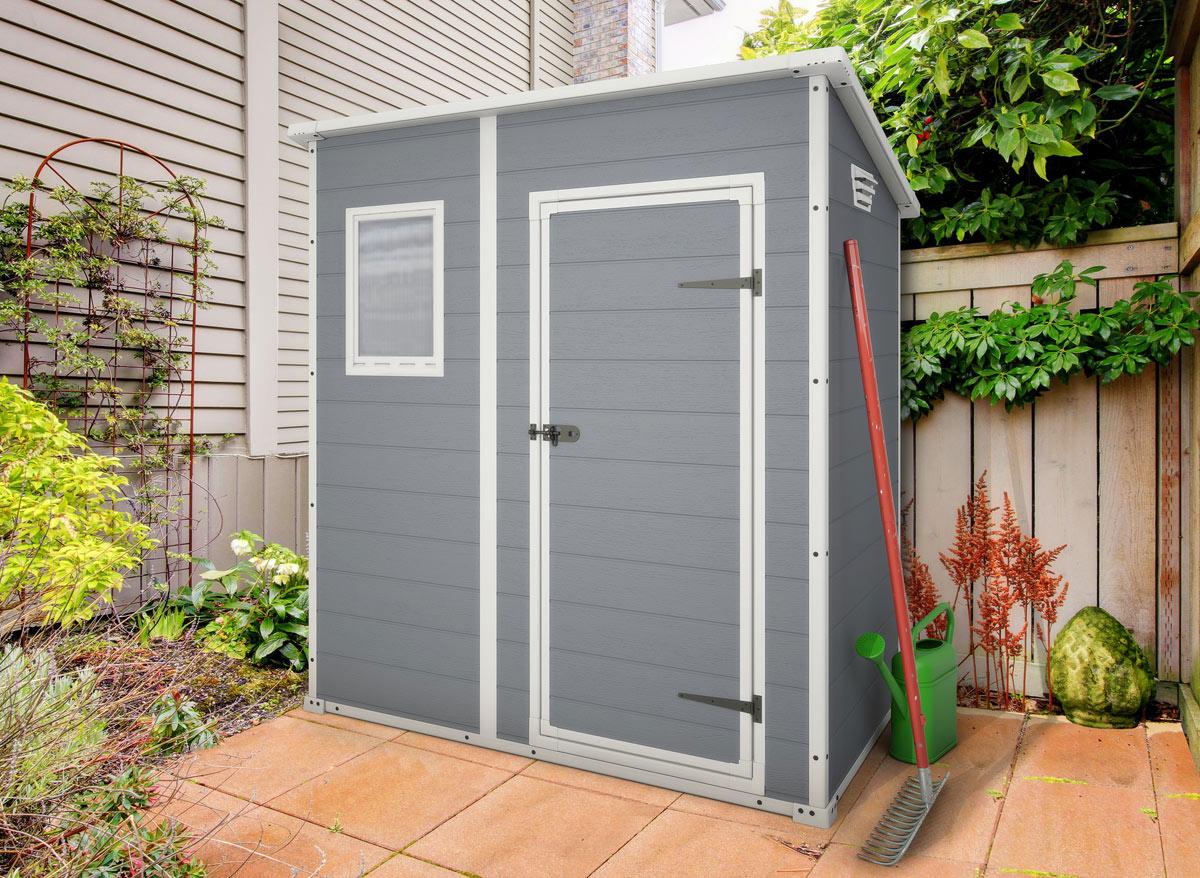Abri de jardin résine premium 64 gris - 2 m²