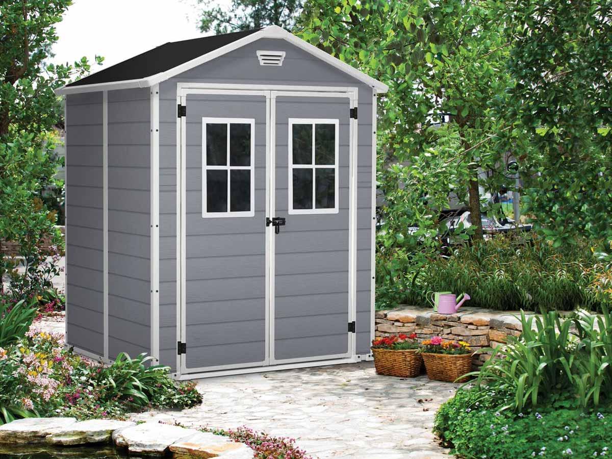Abri de jardin Résine Premium 65 Gris - 2,8 m²