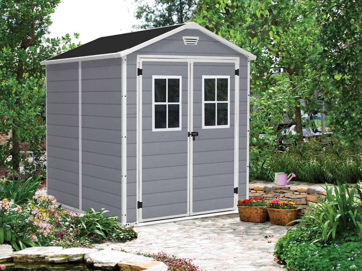 Abri de jardin Résine Premium 86 Gris - 4,4 m²