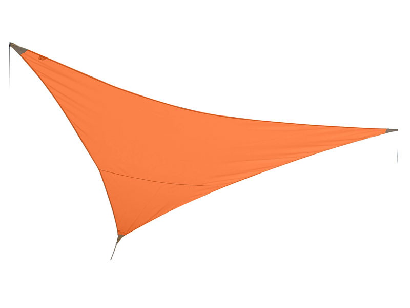 Voile d'ombrage triangulaire 3 x 3 x 3 m - Mandarine