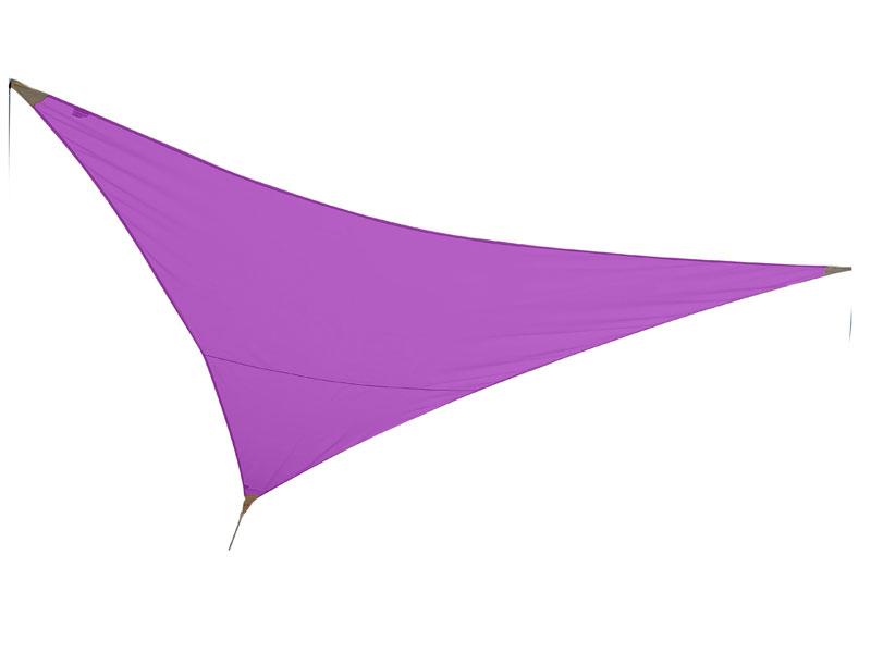 Voile d'ombrage triangulaire 3 x 3 x 3 m - Violine