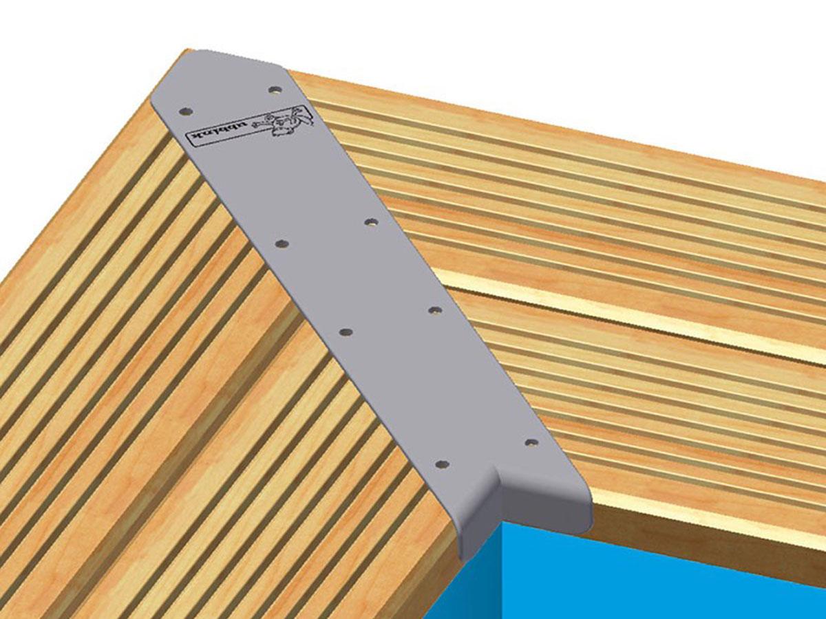 Kit finition margelles en angle pour piscine bois rectangulaire - Ubbink