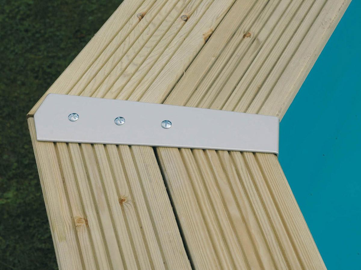 Kit finition margelles pour piscine bois octogonale ou hexagonale - Ubbink