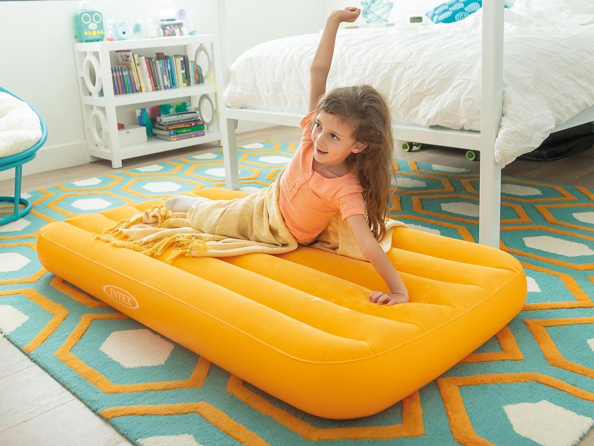 Matelas gonflable enfant Orange 1 place - Intex