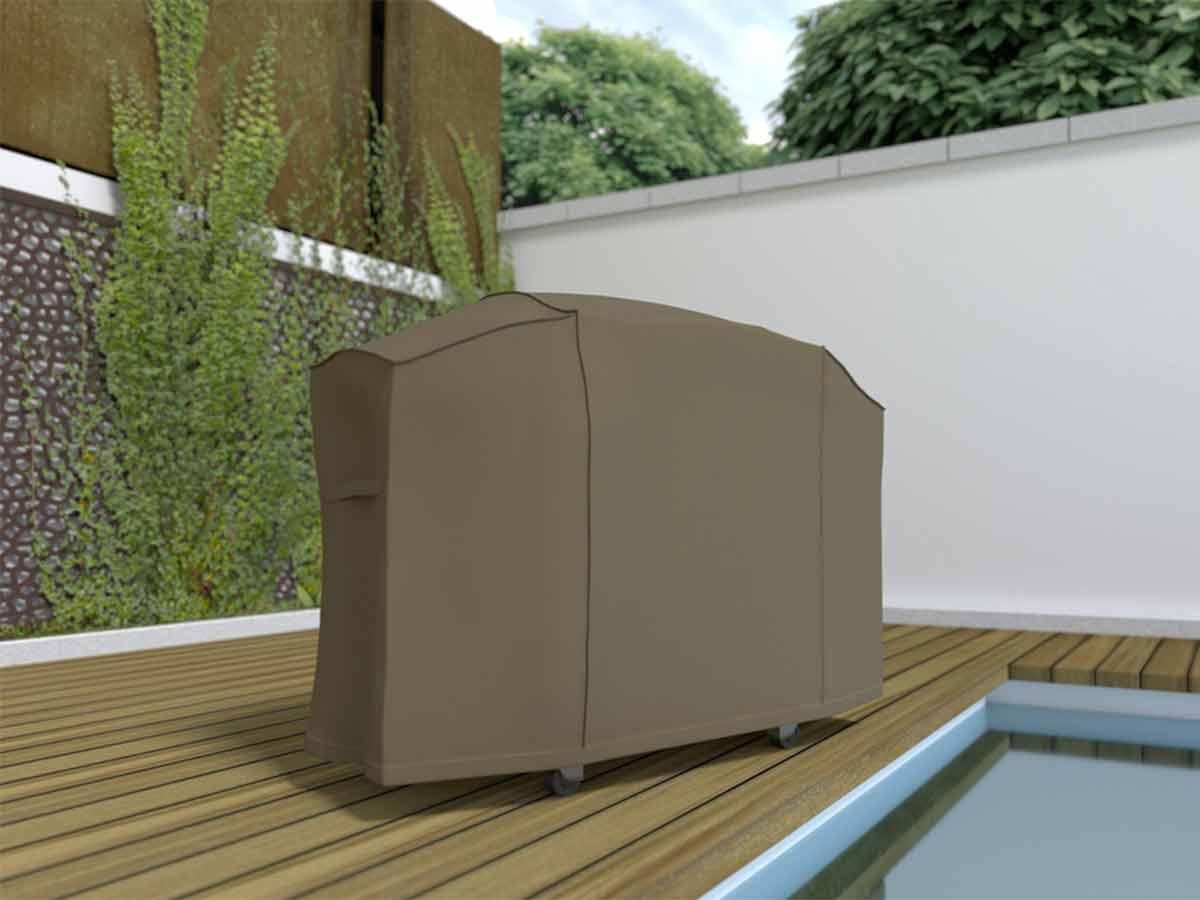 Housse de protection barbecue grand modèle COVERTOP - Taupe - 170 x 70 x 115 cm