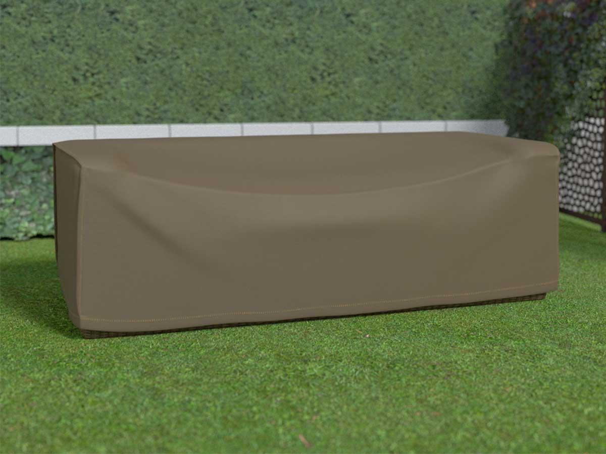 Housse de protection pour canapé 3 places COVERTOP - Taupe - 230 x 100 x 70 cm