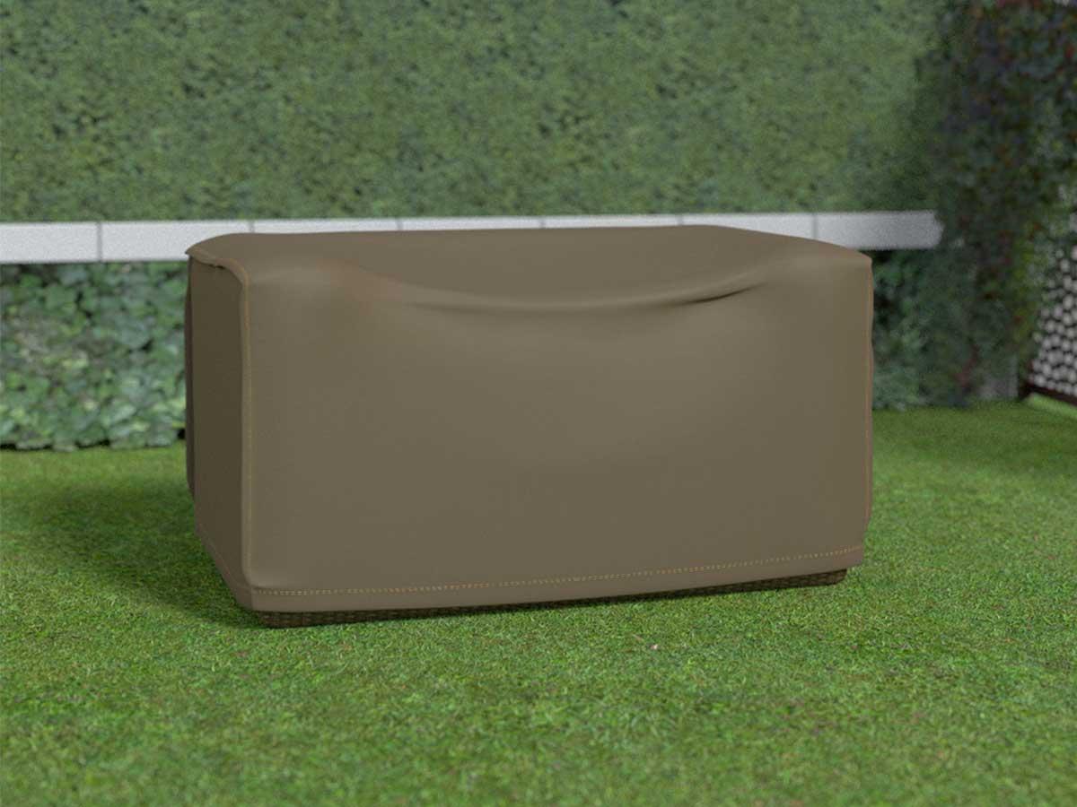 Housse de protection pour canapé 2 places COVERTOP - Taupe - 140 x 85 x 70 cm