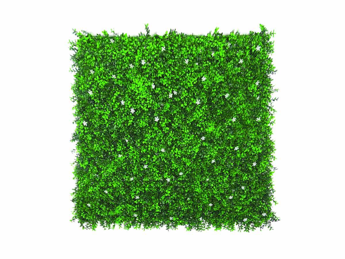 Panneau décoratif de feuillage synthétique VERTICAL JASMIN - Vert - 1 x 1 m