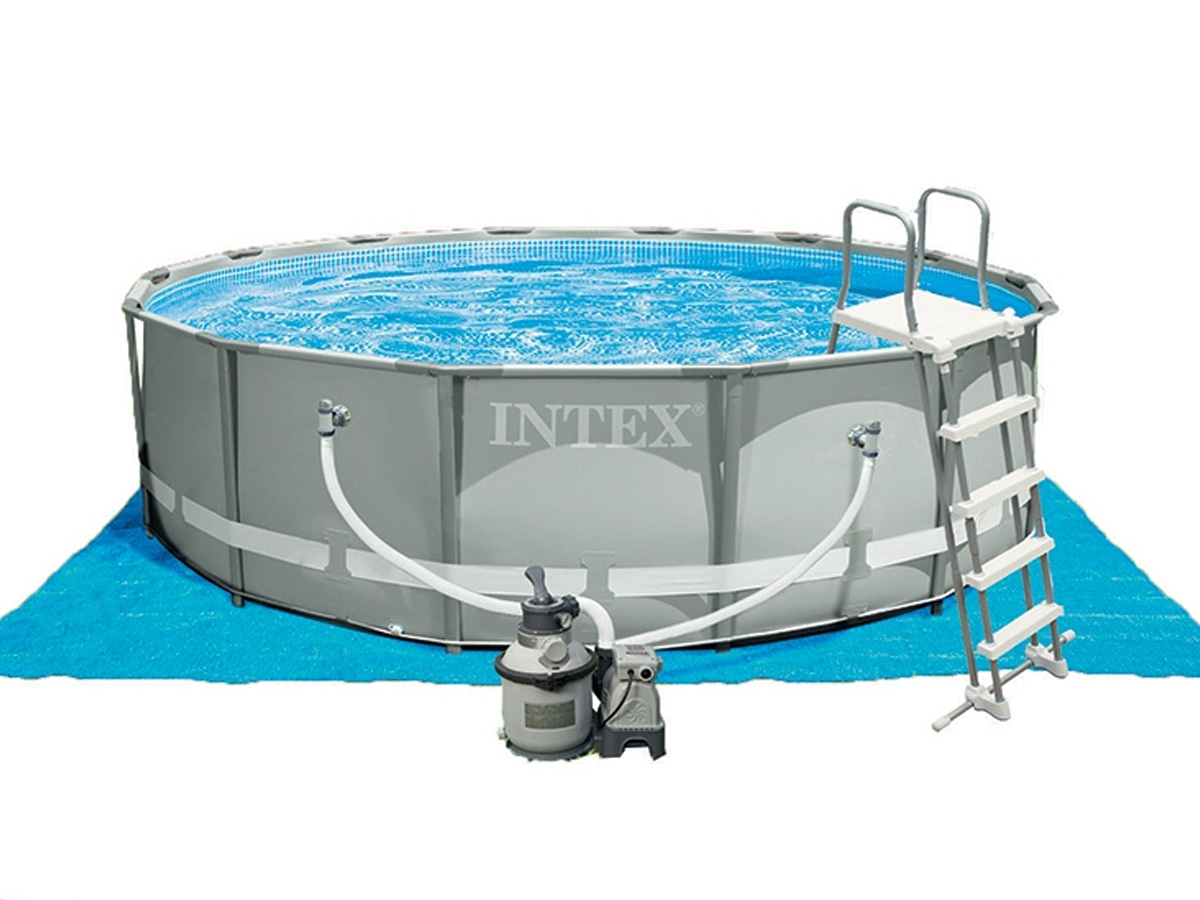 Piscine tubulaire Ultra Frame ronde 4,27 x 1,22 m - Intex