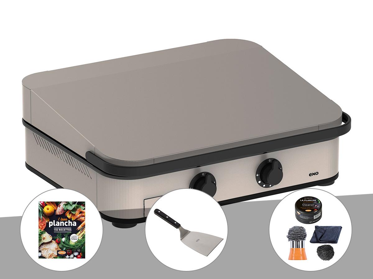 eno  Plancha à gaz ENOSIGN 65 Inox avec capot - Eno + Livre de Recettes... par LeGuide.com Publicité