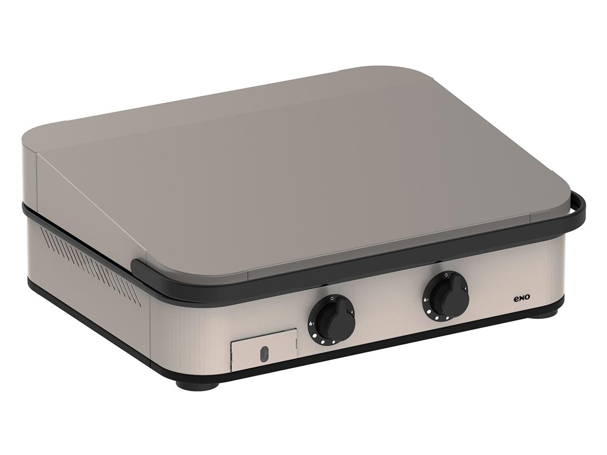 Plancha à gaz ENOSIGN 65 Inox avec capot - Eno