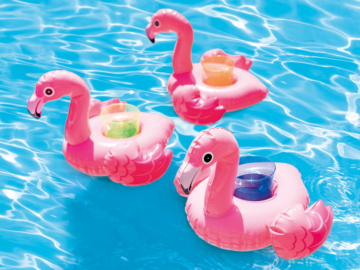 Porte verre gonflable Flamant Rose - Intex