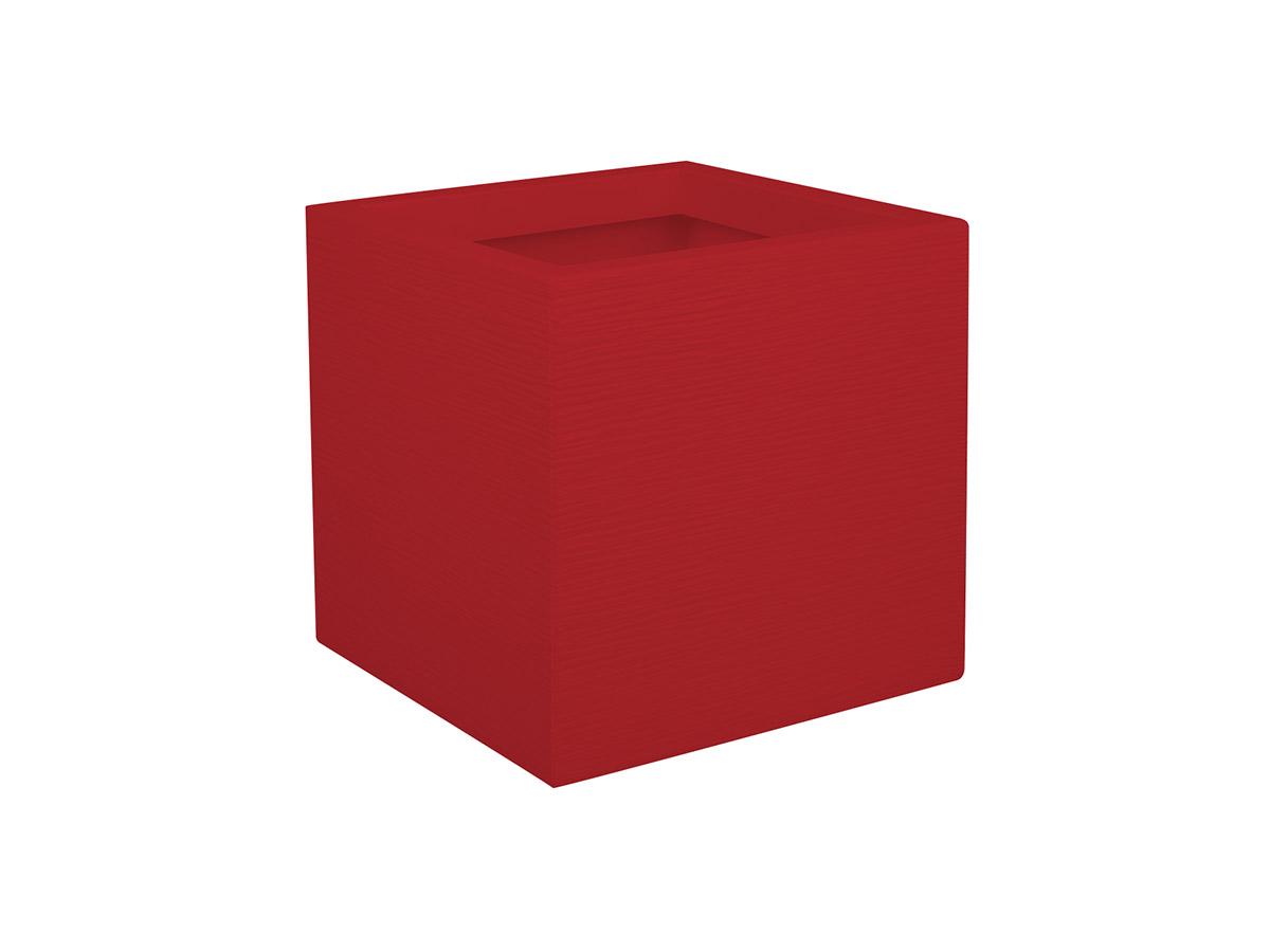 Jardinière carrée Graphit Up 29,5 x 29,5 x 29,5 cm - 21 L - Rouge rubis