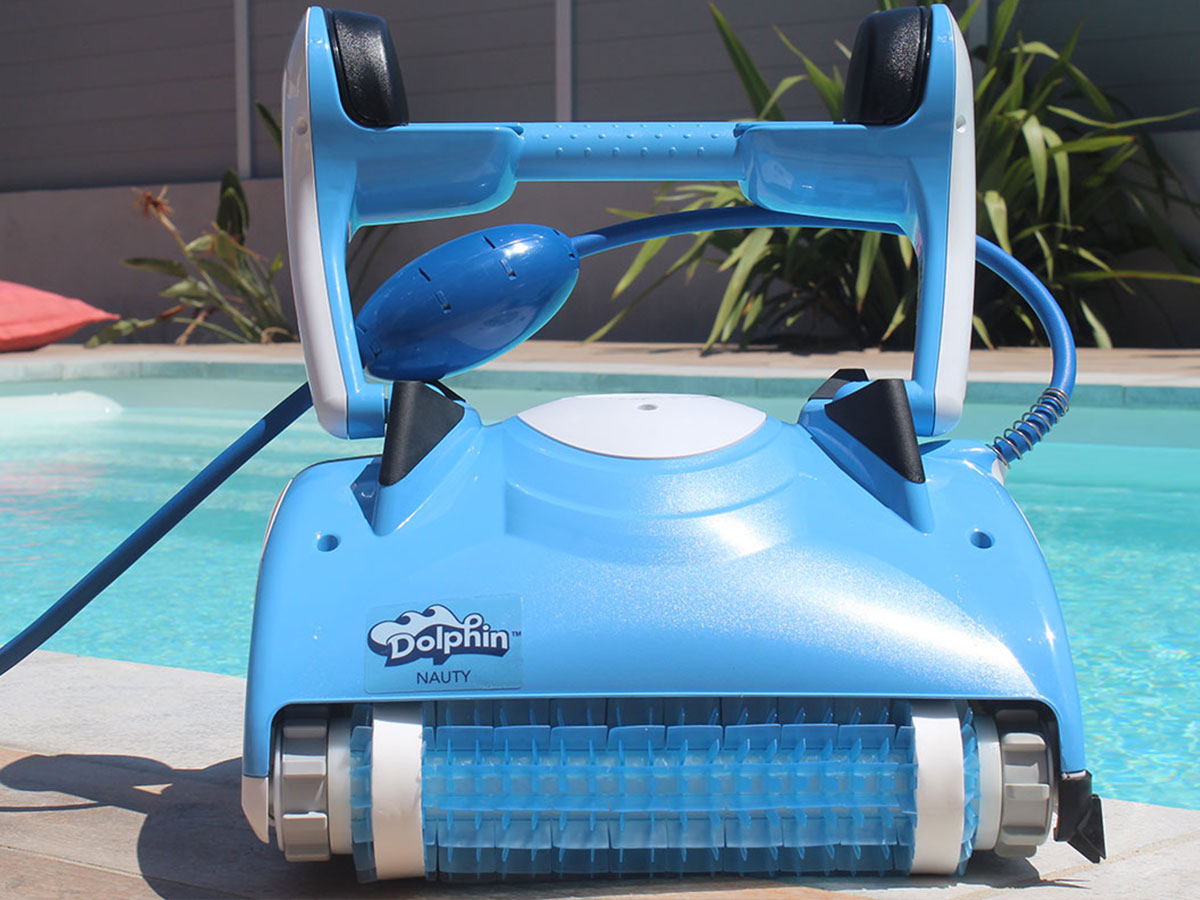 Robot de piscine électrique Nauty + Chariot - Dolphin