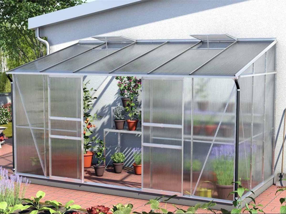 Serre Adossée en verre ida + base - 7,80 m²