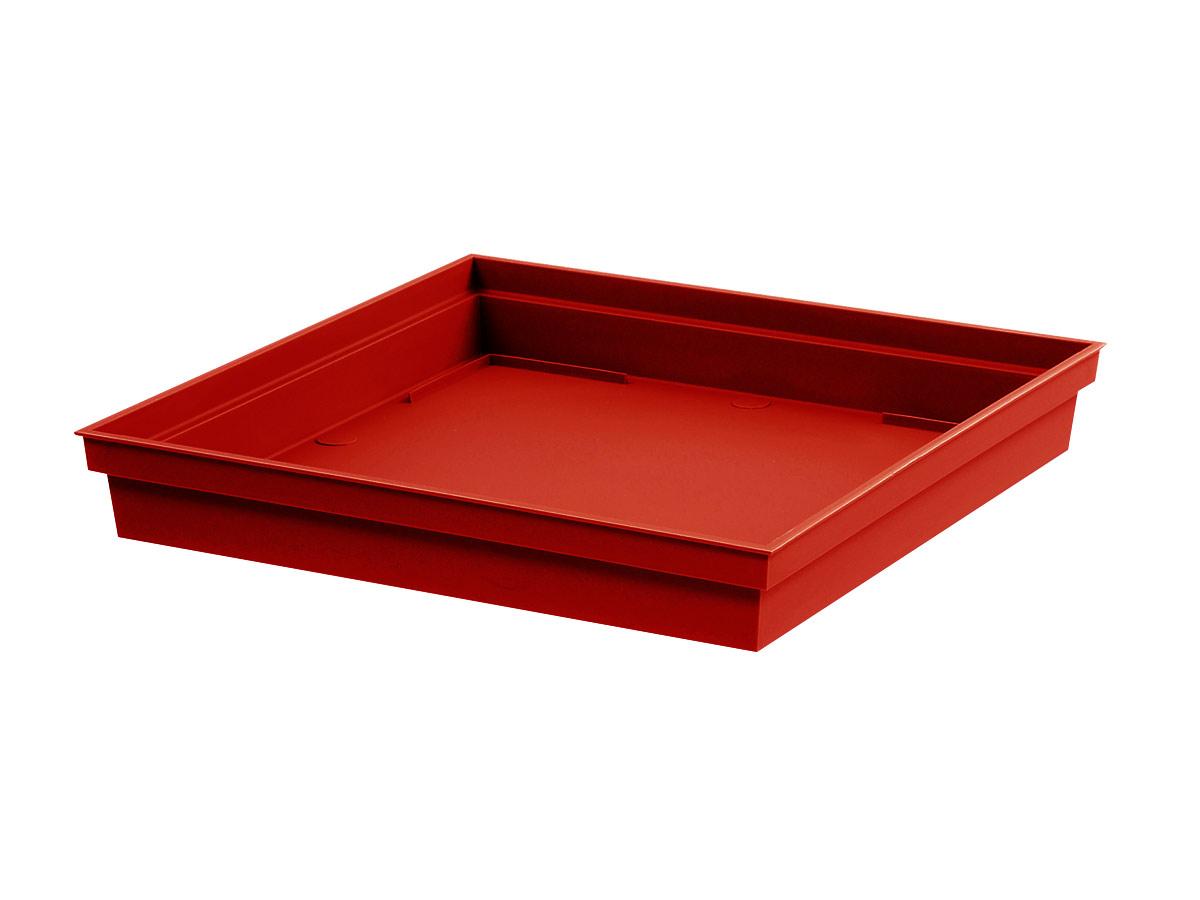 Soucoupe Toscane carrée 32 cm - Rouge rubis