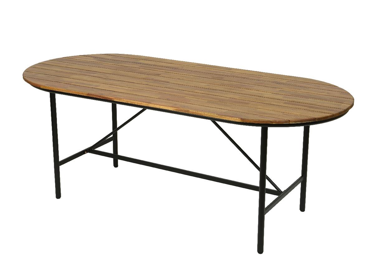 Table de jardin en bois et métal Edmonton - Jardideco