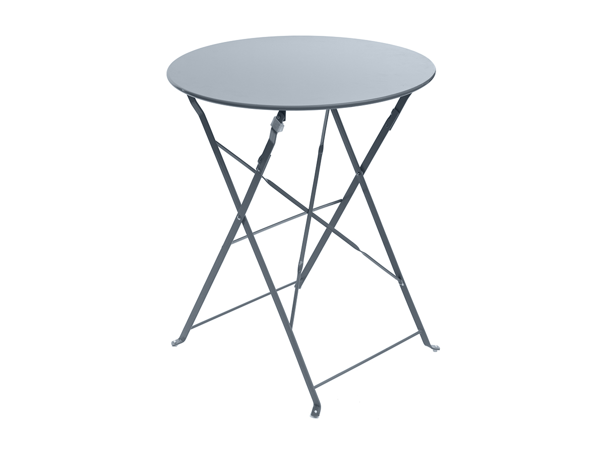 Table de jardin ronde Camargue Ø 60 cm Ardoise mat - Hespéride