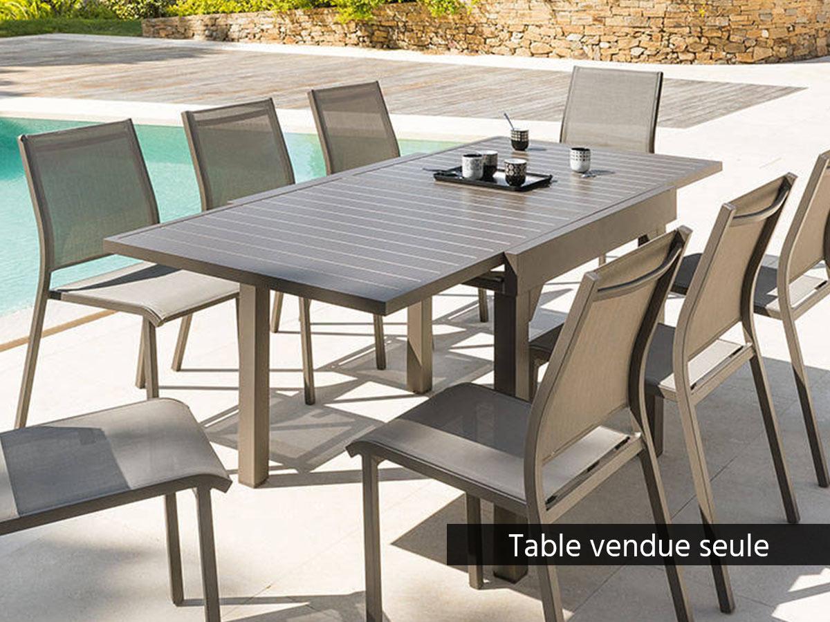Table extensible carrée alu Piazza 4/8 places Tonka - Hespéride