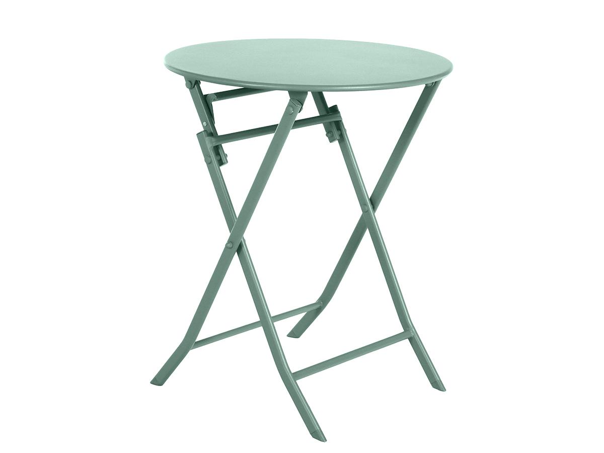 Table de jardin ronde Greensboro Ø 60 cm Olive - Hespéride