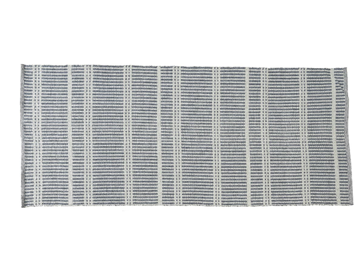 Tapis d'extérieur rectangle 200 x 90 cm motif Rayures fines - Jardideco