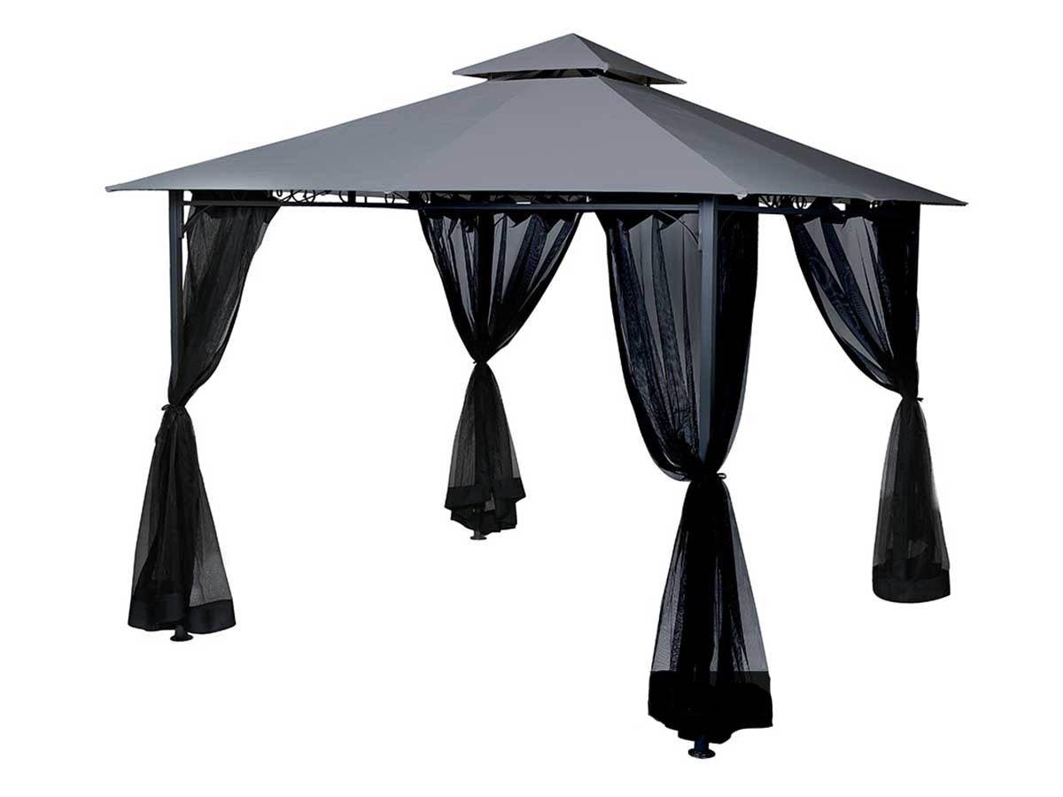 Toile de toit pour la tonnelle Fogo 3 x 3 m Ardoise
