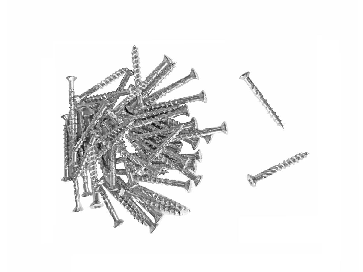 Sachet de 50 vis Torx inox pour fixer bordure de jardin au piquet - 4,5 x 40 mm