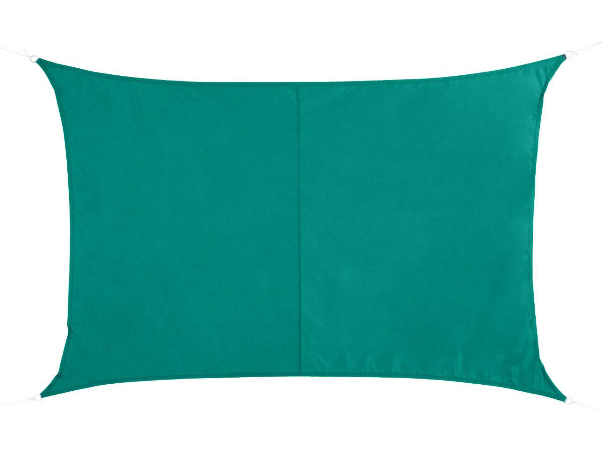Voile d'ombrage rectangulaire 3 x 4 m Curacao - Emeraude